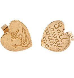 Alex Monroe - Sail Away With Me Rose Gold Stud Earrings