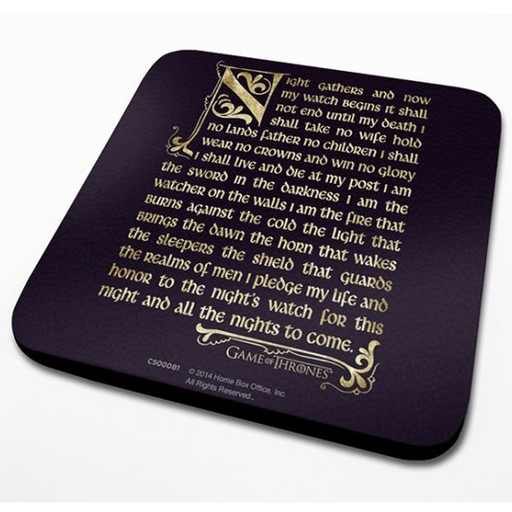 Game of Thrones - Night's Watch Oath Coaster