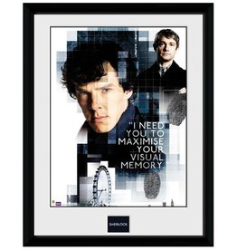 Sherlock - Visual Memory Framed Print