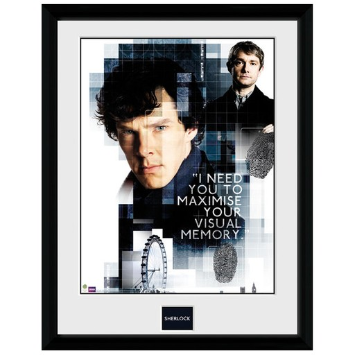 Sherlock - Visual Memory Framed Print