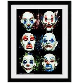 The Dark Knight - Masks Framed Print
