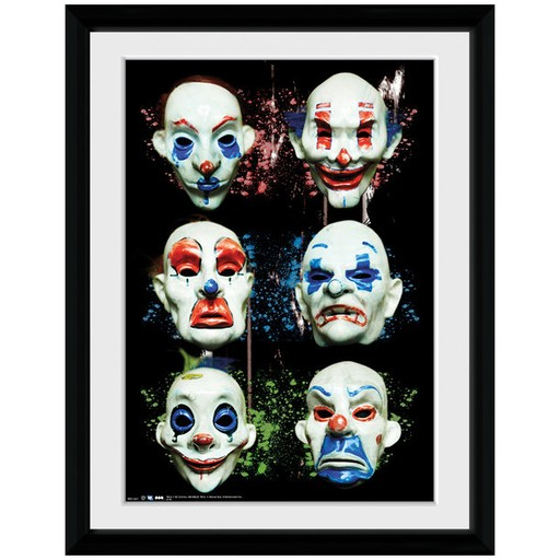 The Dark Knight - Masks Framed Print