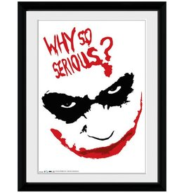 The Dark Knight - Joker Why So Serious Smile Framed Print