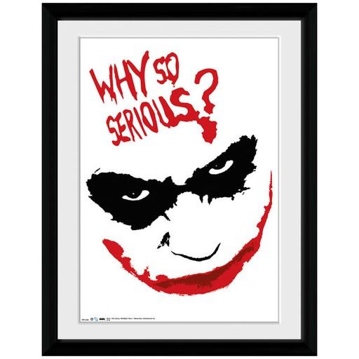 The Dark Knight - Joker Why So Serious Smile Framed Print