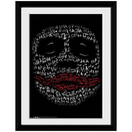 The Dark Knight - Joker Ha Ha Type Framed Print