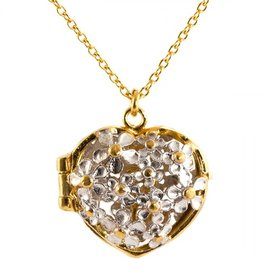 Alex Monroe - Posy Flower Heart Locket