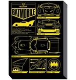 Batman - Batmobile Blueprint Canvas Print