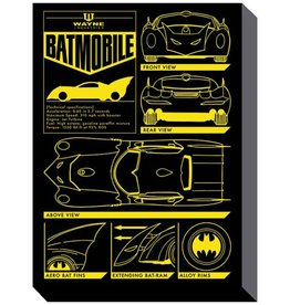 Batman - Batmobile Blueprint Canvas Print