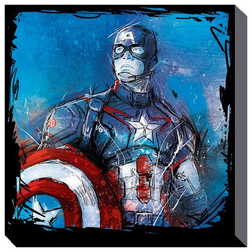 Avengers - Age of Ultron Captain America Art Canvas Print