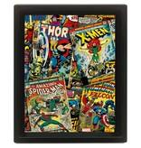 Marvel Comics - Comic Covers 3D Framed Print