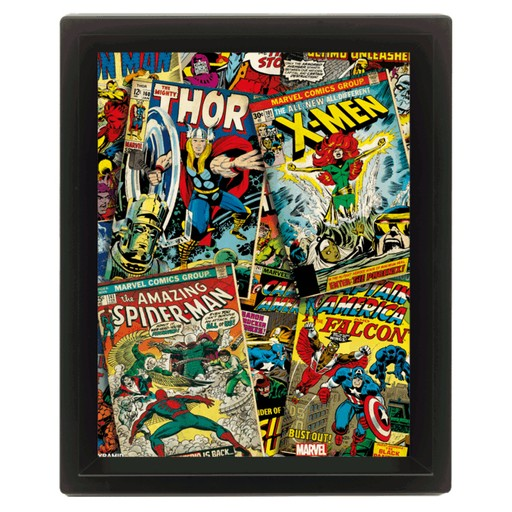 Marvel Comics - Comic Covers 3D Framed Print