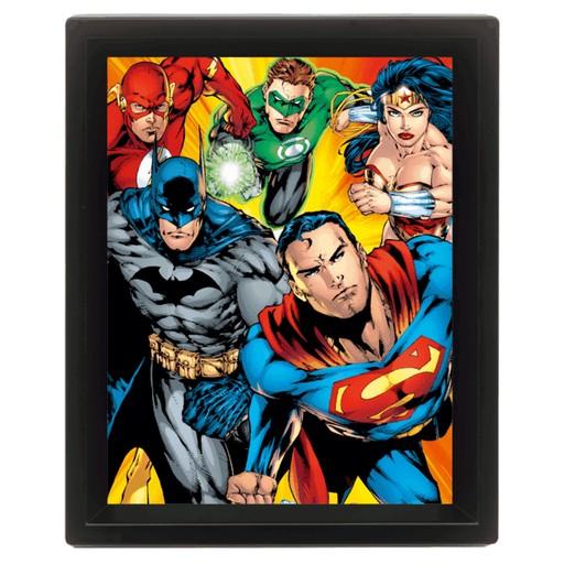 DC Comics - Superheroes 3D Framed Print