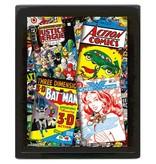 DC Comics - Comic Covers 3D Framed Print
