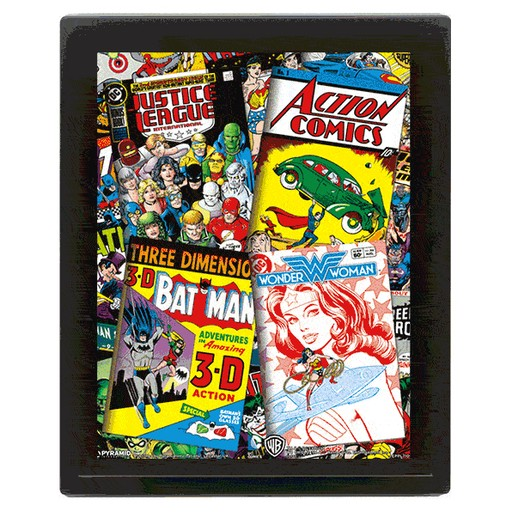 DC Comics - Comic Covers 3D Framed Print