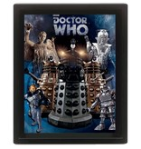 Doctor Who - Villians 3D Framed Print