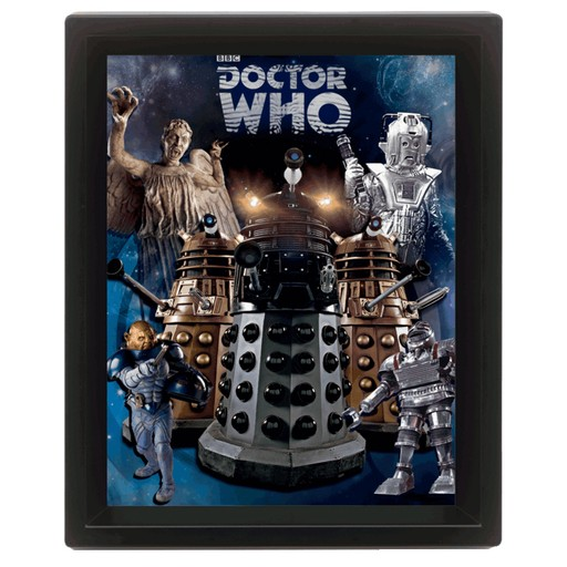 Doctor Who - Villians 3D Framed Print
