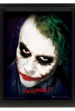 The Dark Knight - Joker Why So Serious 3D Framed Print