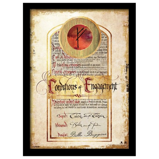 The Hobbit - Conditions of Engagement Framed Print