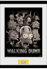 The Simpsons - Walking Dumb Framed Print