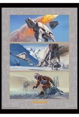 Star Wars - Battle On Hoth Framed Print