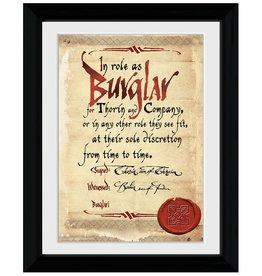 The Hobbit - Burglar Framed Print