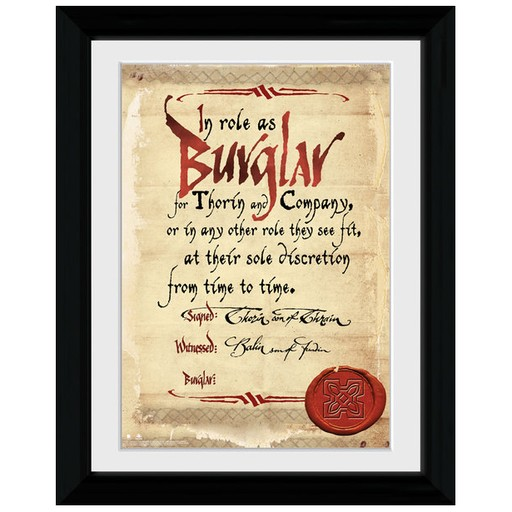 The Hobbit - Burglar Framed Print