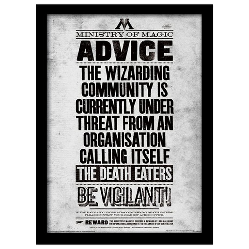 Harry Potter - Be Vigilant Poster Framed Print