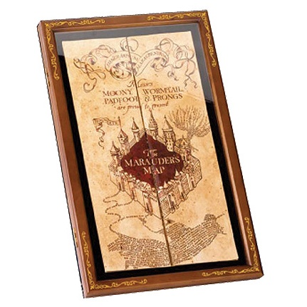 Harry Potter - The Marauder's Map Display Case