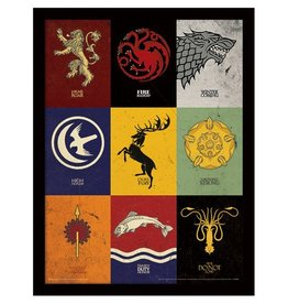 Game of Thrones - House Sigils Framed Print