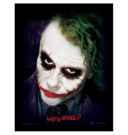 The Dark Knight - Joker Face Why So Serious Framed Print