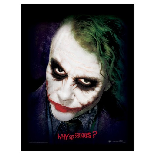 The Dark Knight - Joker Face Why So Serious Framed Print