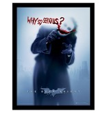 The Dark Knight - Joker Blood Why So Serious Framed Print