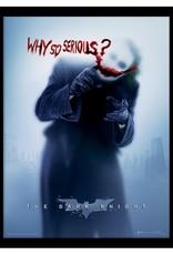 The Dark Knight - Joker Blood Why So Serious Framed Print