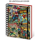Marvel Comics - Superhero Collage 3D A5 Notebook