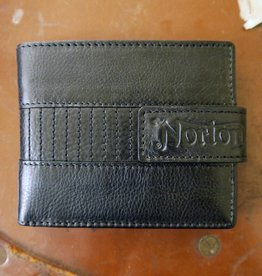 Norton - Biker Full Grain Leather Men's Wallet - Vintage Black