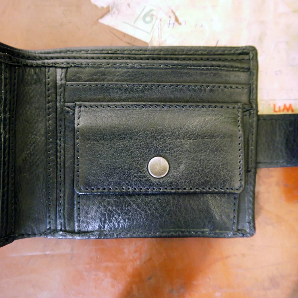 Norton - Biker Full Grain Leather Men's Wallet - Vintage Black