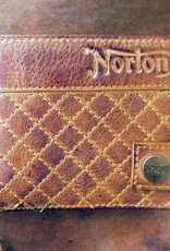 Norton - Quilted Full Grain Leather Men's Wallet - Vintage Tan