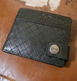Norton - Quilted Full Grain Leather Men's Wallet - Vintage Black