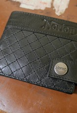 Norton - Quilted Full Grain Leather Men's Wallet - Vintage Black