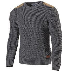 Holebrook - Assar Crew Neck Jumper - Anthracite Melange