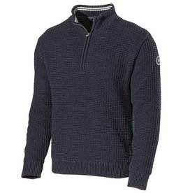Holebrook - Ivan T-Neck Windproof Jumper - Navy