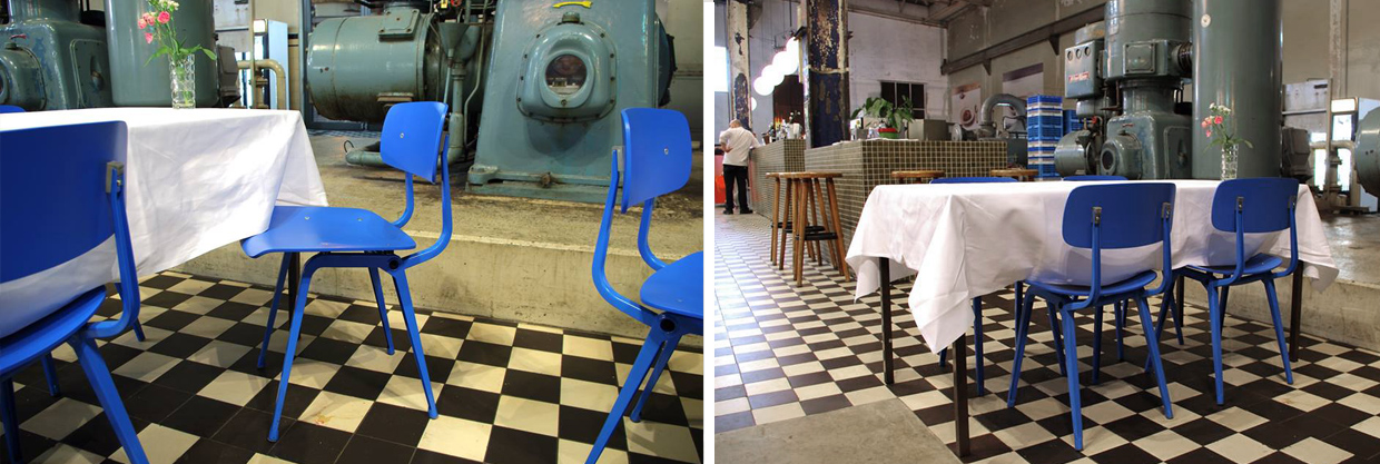 De Machinekamer vintage project inrichting restaurant
