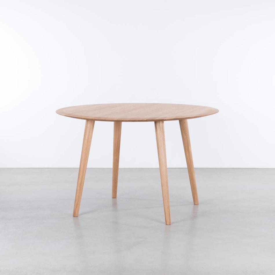 Sav okse olger ronde tafel eiken de machinekamer for Eettafel scandinavisch