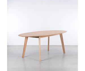 Sav okse samt ovale tafel eiken de machinekamer