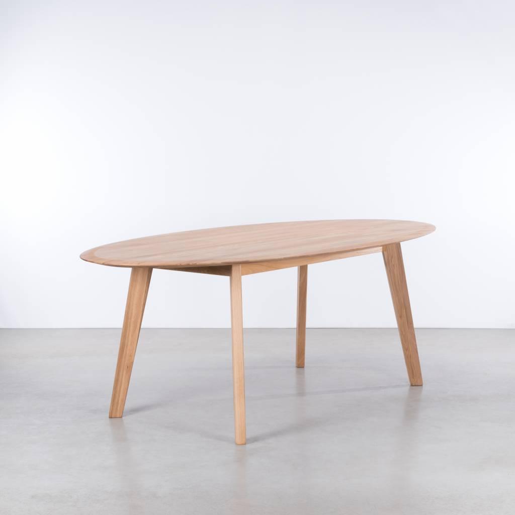 Sav okse samt ovale tafel eiken de machinekamer for Eiken design tafel