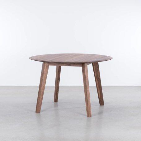 Samt ronde tafel Walnoot