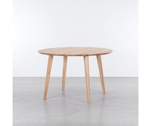Retro Tafel Rond : Sav & okse tomrer ronde tafel eiken de machinekamer
