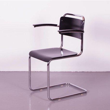 Gispen 201 stoelen Dutch Originals zwart hout   - Set van 4