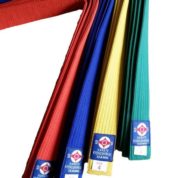 勇isamu Standard Kyokushinkai Color Kyu Belts