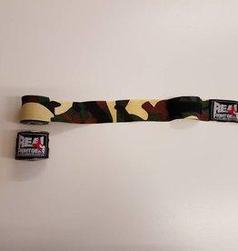 REAL FIGHTGEAR (RFG) Boksbandages - 250cm Camo Groen